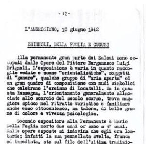 10_06_1942 - L'Ambrosiano: Brignoli, Della Foglia e Cugusi