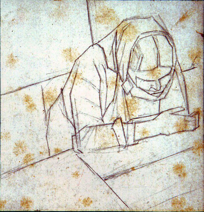 Disegni di Brancaleone Cugusi da Romana: Busto di donna chinata