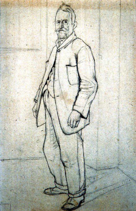 Disegni di Brancaleone Cugusi da Romana: studio per Zio Federico