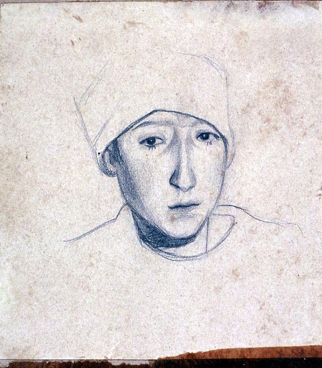 Disegni di Brancaleone Cugusi da Romana: ritratto della sorella Wanda