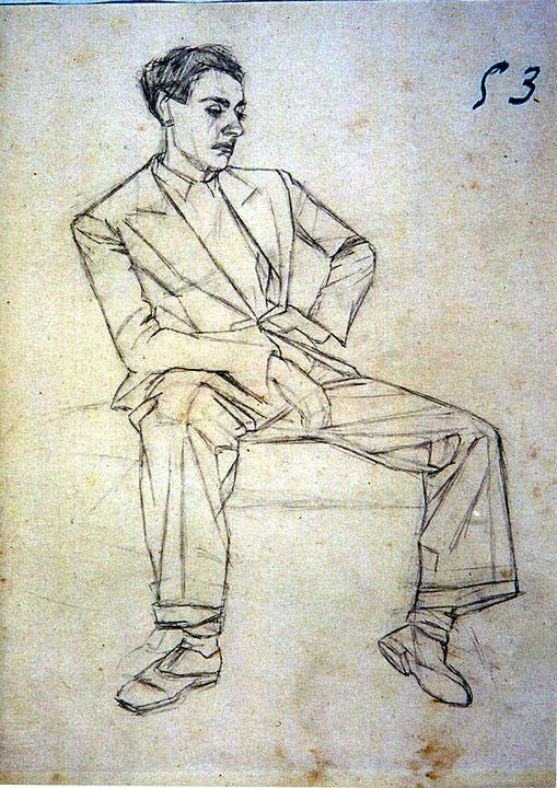 Disegni di Brancaleone Cugusi da Romana: Ritratto del fratello Severo
