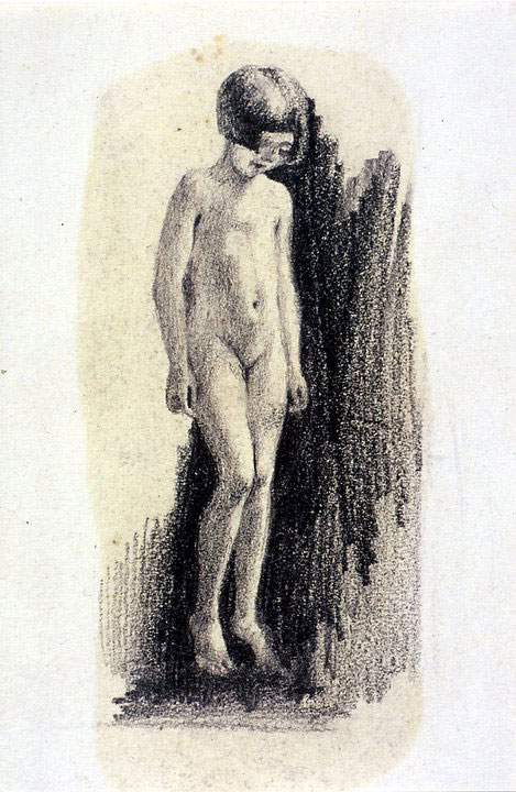Disegni di Brancaleone Cugusi da Romana: studio per Piccola Bagnante