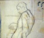 Disegni di Brancaleone Cugusi da Romana: studio per Uomo con libro