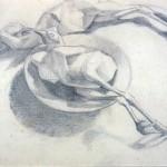 Disegni di Brancaleone Cugusi da Romana: studio per Natura morta