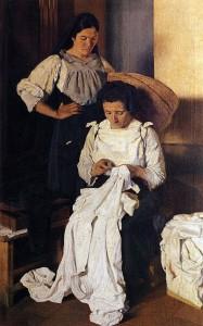 Opere di Brancaleone Cugusi da Romana: Le cucitrici (1936)