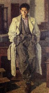 Opere di Brancaleone Cugusi da Romana: Giovane con l'impermeabile (1940-1941)