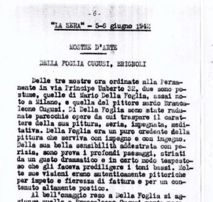 05_06_1942 La Sera: mostre d'arte