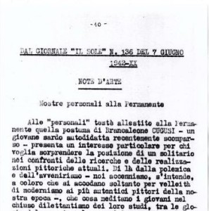 07_06_1942 - Il Sole nr 136 Note d'arte