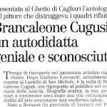24_12_2003 - L'unione Sarda: Brancaleone Cugusi autodidatta