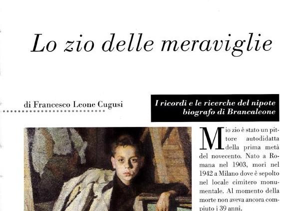 Rivista Le Storie: Brancaleone lo zio delle meraviglie