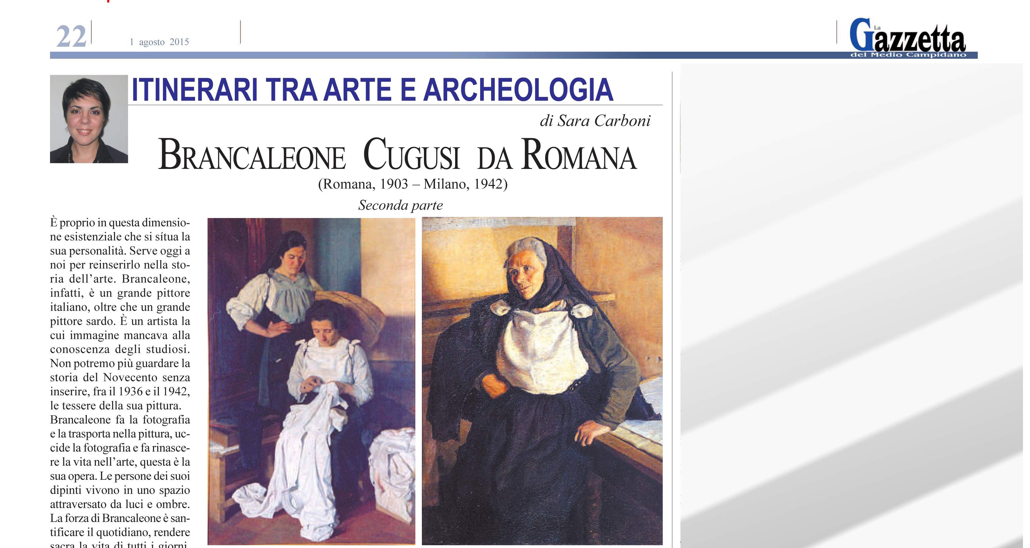 La Gazzetta del Medio Campidano: Brancaleone Cugusi da Romana